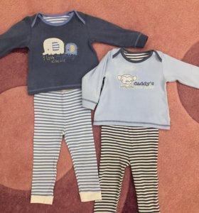Пижамы, размер 86, 12-18 месяцев