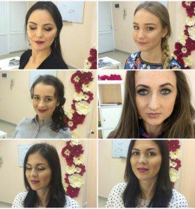 Прическа-макияж