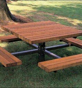 Скамейки, столы, стулья