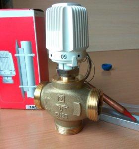 Клапан трёхходовой термосмесительный с термоголовк