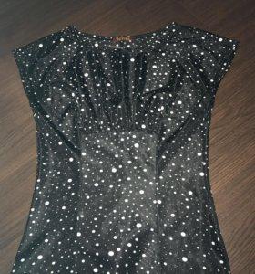 1. Блуза офисная в горошек