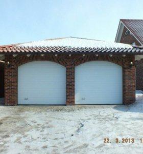 Ворота на дачу секционные гаражные Алютех 2,5х2,25