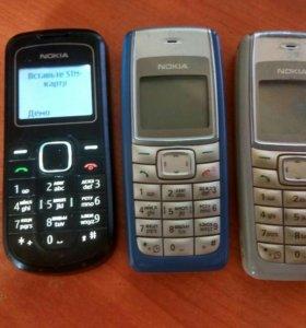 5 телефона Nokia 1202 1112 и Fly