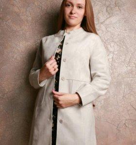 Новое замшевое пальто