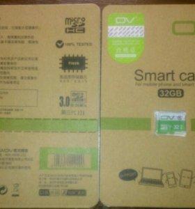 Micro SD карта памяти 32 Гб