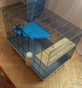 Клетка для шиншиллы (+купалка)