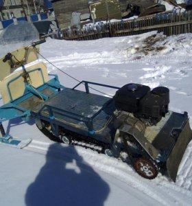 Мотособака с лыжным модулем