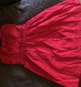 Красное платье , размер xs-s