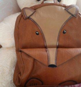 Кожаный рюкзак-лисичка Accessorize
