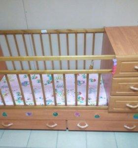 Кровать- трансформер для новорожденных