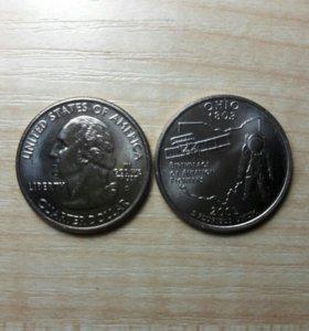25 центов США