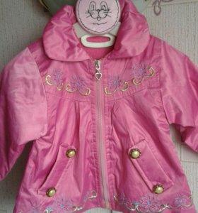 Куртка для девочки весна-осень.