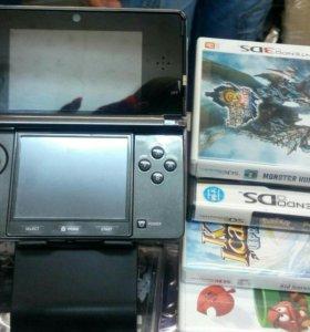 Приставка Nintendo 3 d. +4 игры. Новая.