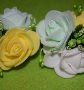 Цветочки на резинках