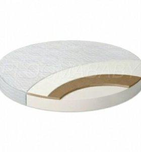 Деткий матрас (кокос) для круглой кроватки. Новые