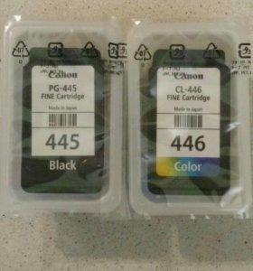 Картриджи Canon PG-445 и CL-446