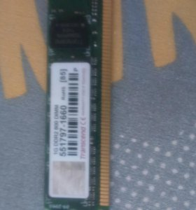 Память ddr 2 1gb. Transcend