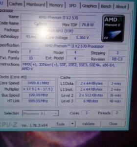 Процессор Phenom    x2 570 (3500 Mhz), AM2+ AM3