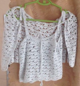 Топ и юбка на завязочках