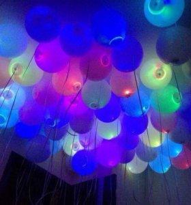 Воздушные шарики светящиеся со светодиодами