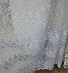 Тюль вышивка
