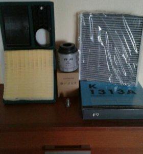 Масляный ,воздушный,салонный фильтры для WV-polo