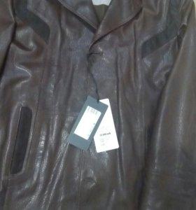 Куртка мужская, натуральная кожа, весна-осень.