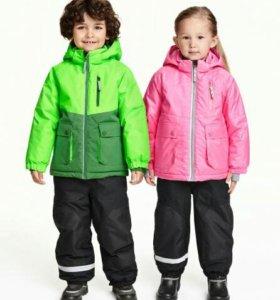 Зимние брюки H&M, р.98