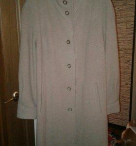Драповое пальто новое