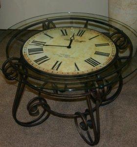 Журнальный стол-часы