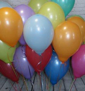 Воздушные шары.Облако шаров ассорти пастель