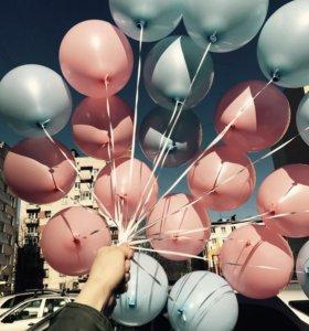 Шарики с гелием , воздушные шары