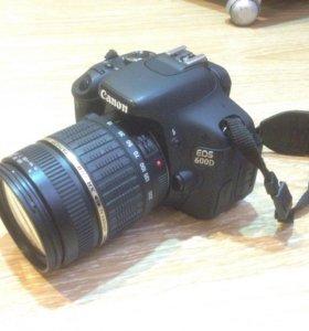 Зеркальная камера Canon EOS-600D+ tamron AF 18-200