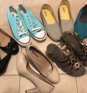 Женская обувь 39р (туфли, кеды, слипоны, босоножки