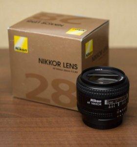 Объектив Nikkor 28mm f/2.8D
