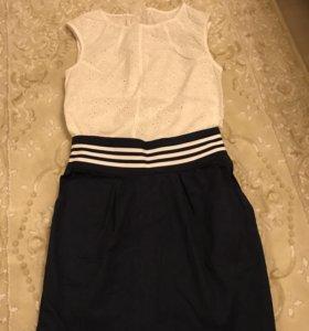 Блуза и юбка на девочку 134-140 рост