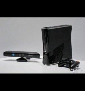 Xbox 360 slim + игры + kinect