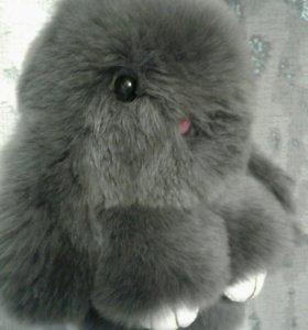 Кролик брелок нат мех