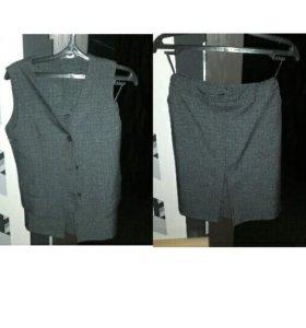 Форма юбка + жилетка