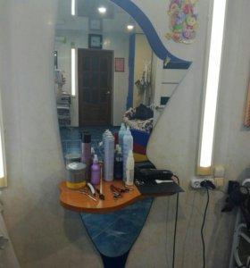 Зеркало Рабочий стол парикмахера