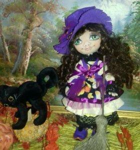 """Интерьерная кукла """"Гармина"""" размер 33см"""