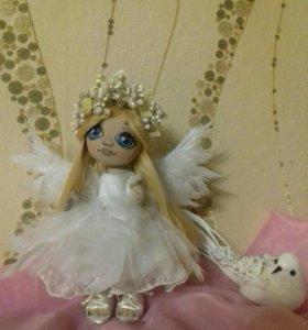 """Интерьерная кукла """"Ангелия"""" размер 23см."""