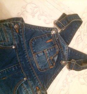 Новый джинсовый комбенизон