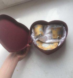 Набор старинной стеклянной посуды ,