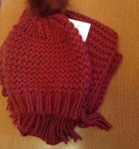 Шапка и шарф. Комплект.