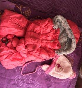 Курточка+шапочка и свитерок