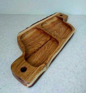 Деревянная тарелочка