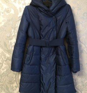 Демисезонное пальто на синтепоне р-р 46