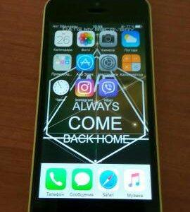iPhone 5c желтый 16g