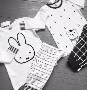 Хлопковые комплектики зайка и мишка